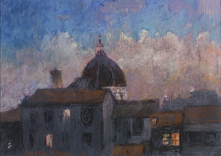 Roger Beale - Florence sunset clouds study