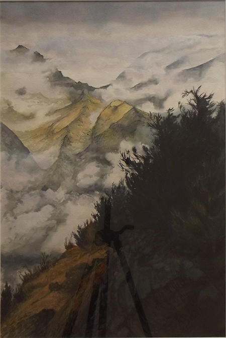 Roger Beale - Tewanaka Trees and Mist
