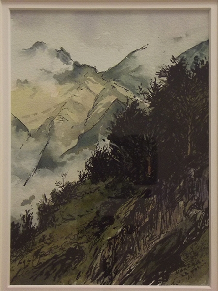Roger Beale - Tewanaka Trees and Mist sketch
