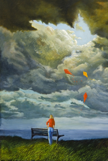 Roger Beale - Woman with Kites